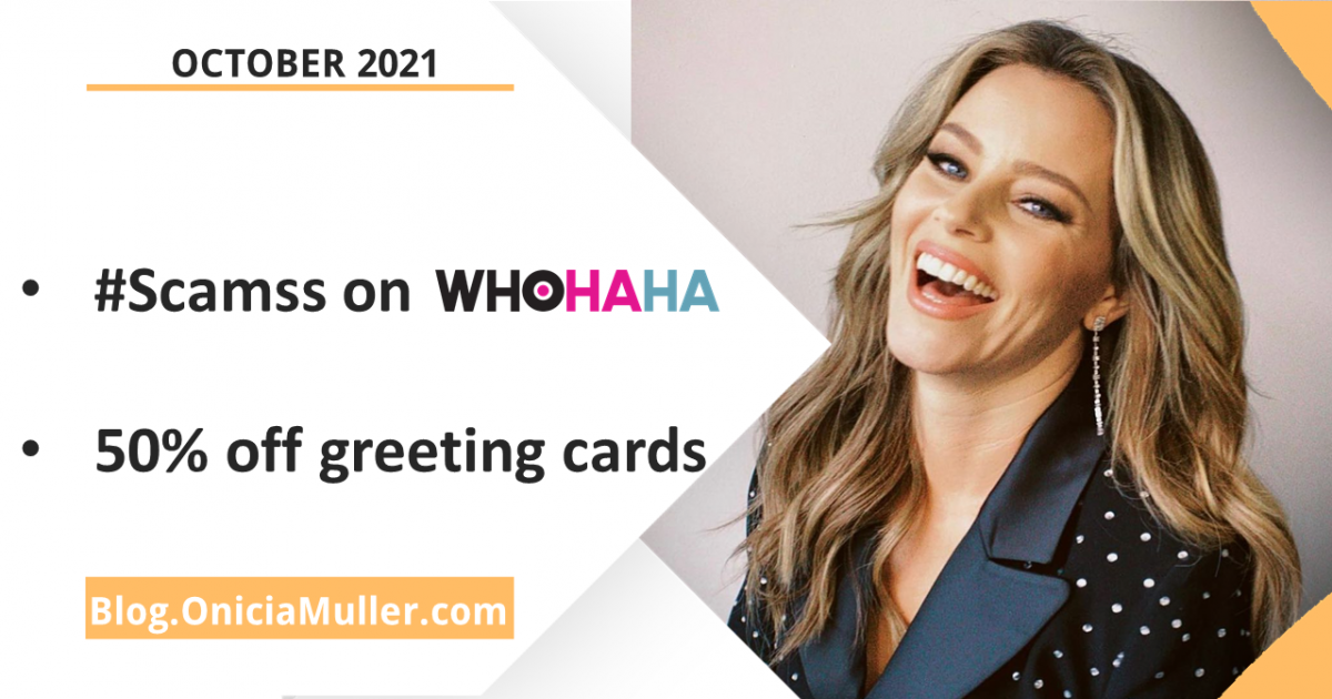 Onicia Update - Scams, Swindles, and Schemes, podcast now on WhoHahha - Elizabeth Banks